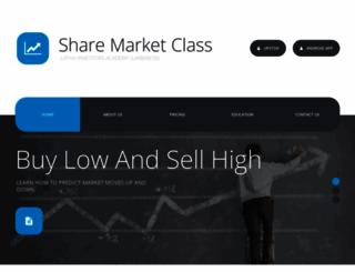 sharemarketclass.com screenshot