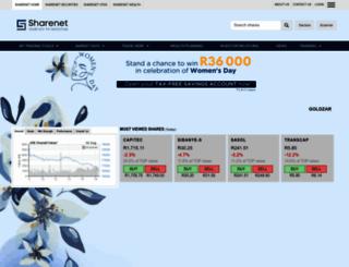 sharenet.co.za screenshot