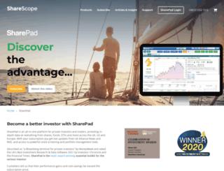 sharepad.co.uk screenshot