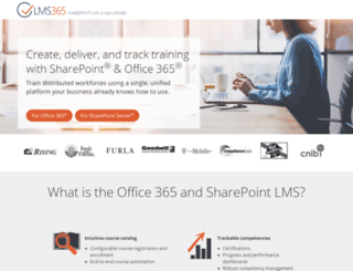 sharepointlms.com screenshot