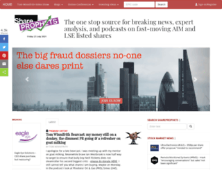 shareprophets.advfn.com screenshot