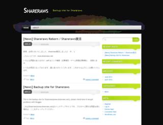 shareraws.wordpress.com screenshot