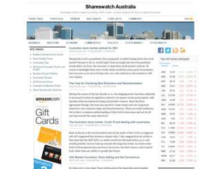 shareswatch.com.au screenshot
