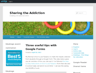 sharetheaddiction.edublogs.org screenshot