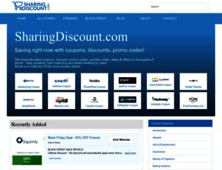 sharingdiscount.com screenshot