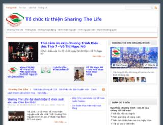sharingthelife.org screenshot