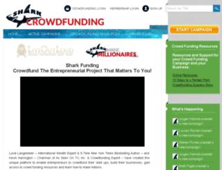 sharkcrowdfunding.com screenshot
