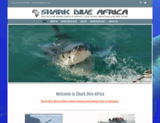 sharkdiveafrica.co.za screenshot