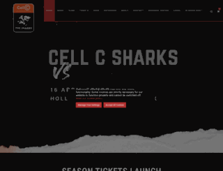 sharksrugby.co.za screenshot