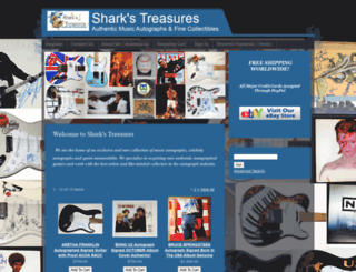 sharkstreasures.com screenshot