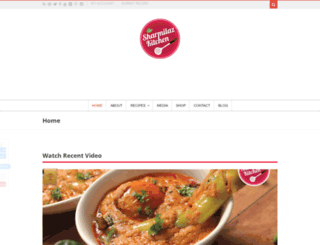 sharmilazkitchen.com screenshot