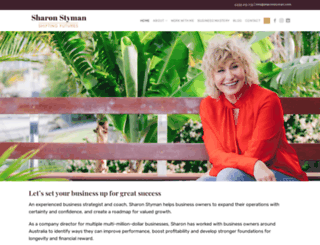 sharonstyman.com screenshot