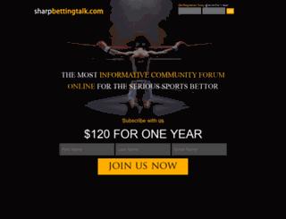 sharpbettingtalk.com screenshot