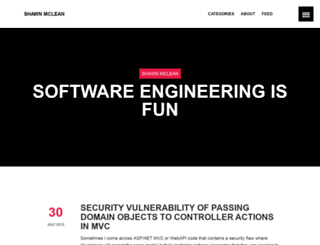 shawnmclean.com screenshot