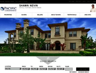 shawnnevin.com screenshot