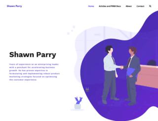 shawnparry.com screenshot