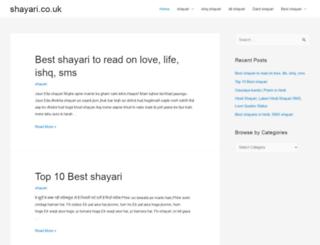 shayari.co.uk screenshot