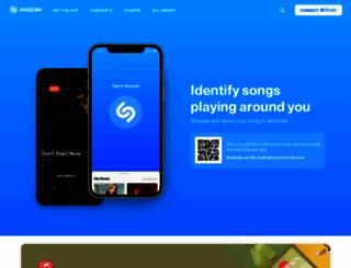 shazam.com screenshot