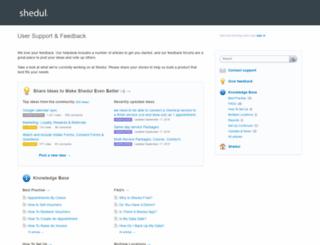 shedul.uservoice.com screenshot