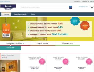 sheenlacpaintstore.in screenshot