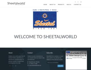 sheetalworld.in screenshot