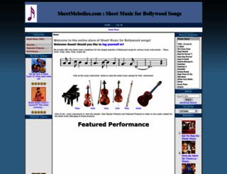 sheetmelodies.com screenshot