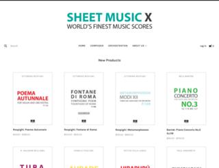 sheetmusicx.com screenshot