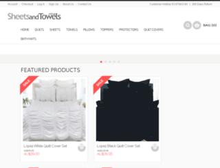 sheetsandtowels.com.au screenshot