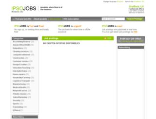 sheffield.ipsojobs.com screenshot