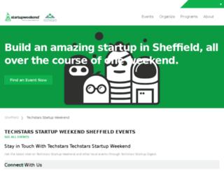 sheffield.startupweekend.org screenshot