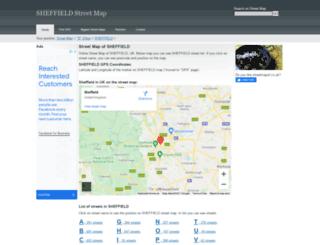 sheffield.streetmapof.co.uk screenshot