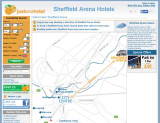 sheffieldarenahotels.co.uk screenshot