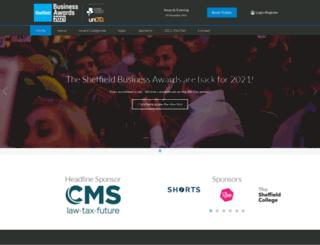 sheffieldbusinessawards.org.uk screenshot