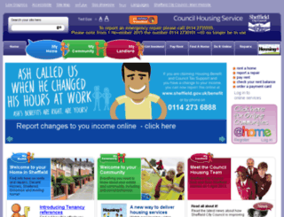sheffieldhomes.org.uk screenshot