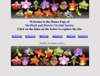 sheffieldorchids.org screenshot