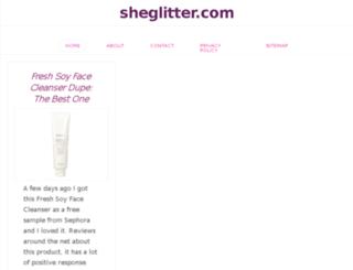sheglitter.com screenshot