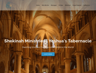shekinahministries.org screenshot