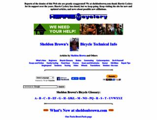 sheldonbrown.com screenshot