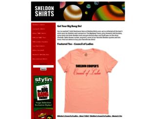 sheldonshirts.com screenshot