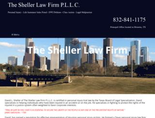 shellerlawfirm.com screenshot