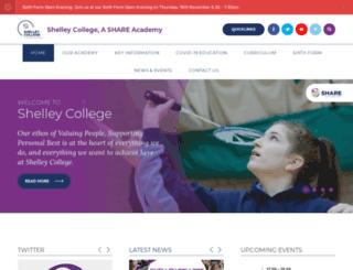 shelleycollege.org screenshot