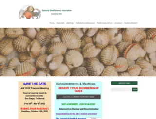shellfish.org screenshot