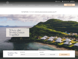 sheraton.com screenshot