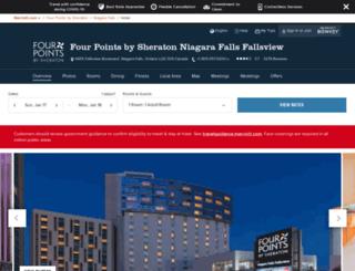 sheratonfourpointsniagara.com screenshot