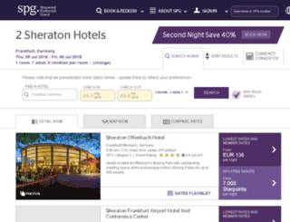 sheratonfrankfurthotels.de screenshot