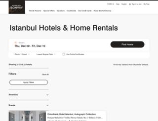 sheratonistanbulmaslak.com screenshot