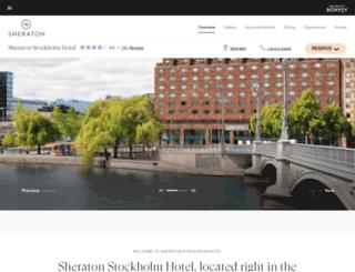 sheratonstockholm.com screenshot