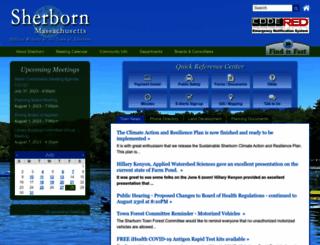 sherbornma.org screenshot