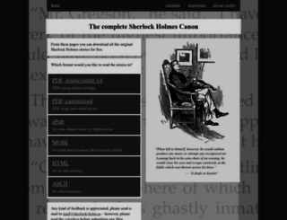 sherlock-holm.es screenshot