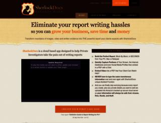 sherlockdocs.com screenshot